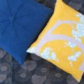 Pillows from vintage textiles_013blueyellow
