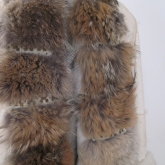 Fur scarf from vintage coats