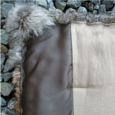 Fur throw from vintage coats