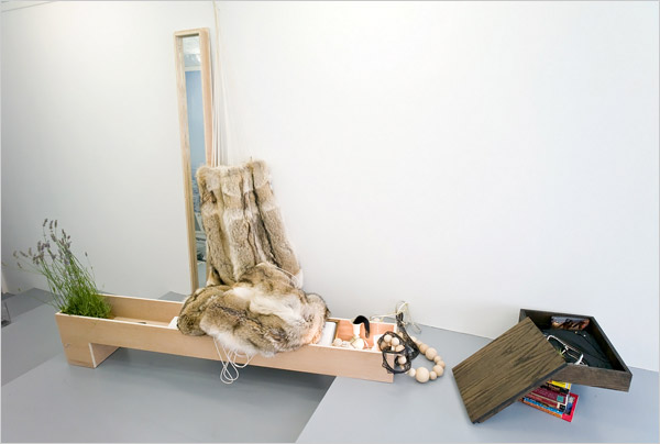 Fur Hammock by Bless, 2008, seen in the NYT
