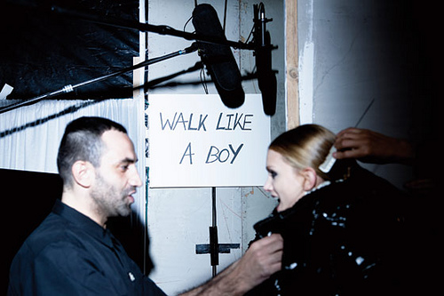 Catwalk backstage sign, at recent Givenchy show