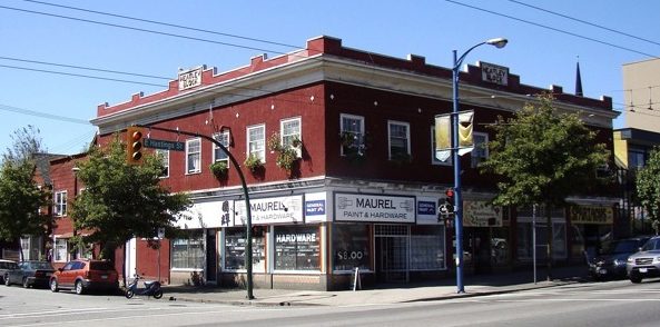 The Heatley Block, a heritage building in the 600 block of East Hastings Street, Vancouver, BC