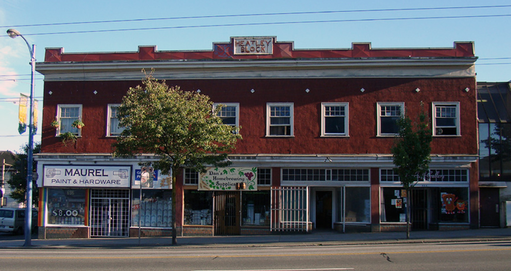 The historic Heatley Block in Vancouver's Strathcona district