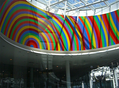 Sol Lewitt at the Pearson International Airport in Toronto, photo by Robin Yap