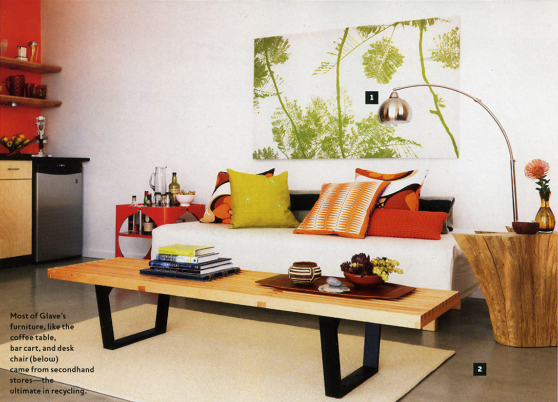 Ouno Design pillows in the Fall 2008 issue of Oprah At Home Magazine.
