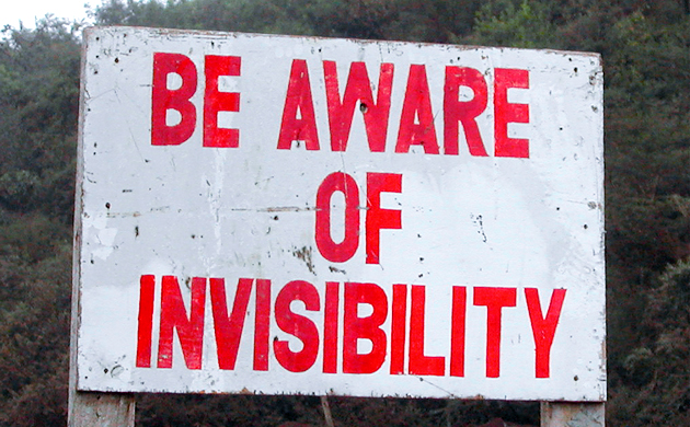 Be Aware of Invisibility, Tanzania road sign