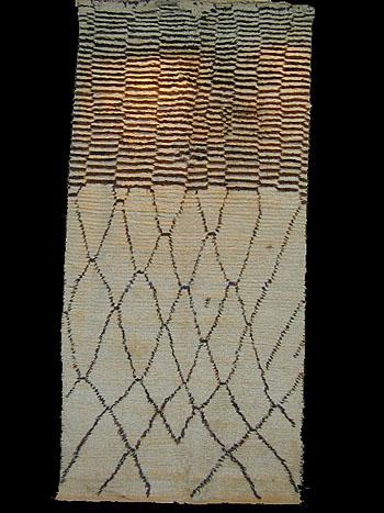 Berber rug, Moroccan Beni Ourain