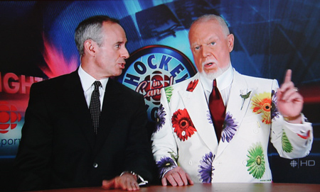 Don Cherry in white blazer with multicolored daisies