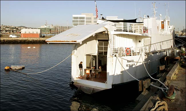 Olle Lundberg, ferry house, exterior of car ferry