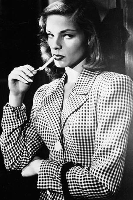 Lauren Bacall in tweed in To Have and Have Not