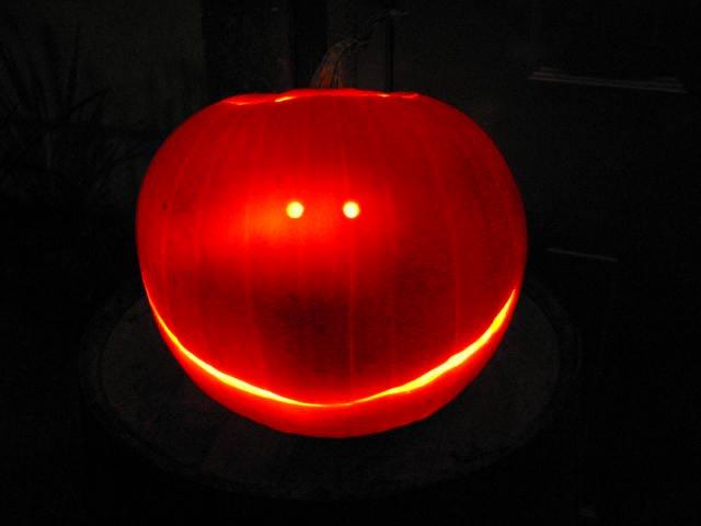 Hallowe'en pumpkin at Ouno Design's studio