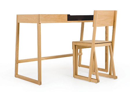 maisondemarina bureau with nesting chair and stool