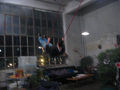 Swing in Williamsburg Loft, from douglemoine on Flickr