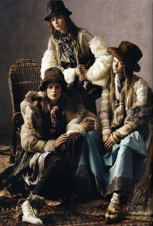 Vogue spread, Bhutan, in 2005 by Steven Meisel