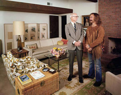 David Crosby and his father in the family living room, from Time Life