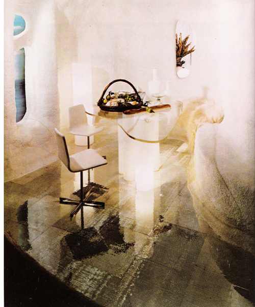 The Bloomingdales Book by Barbara Darcy, dining area in The Cave Room
