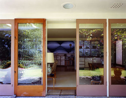 ERRACE DOORS, B.C. BINNING HOUSE (1940), WEST VANCOUVER, BERT BINNING, ARCHITECT by Arne Haraldsson, 1994