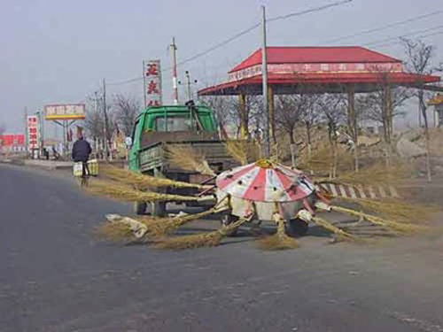 Street cleaner in China