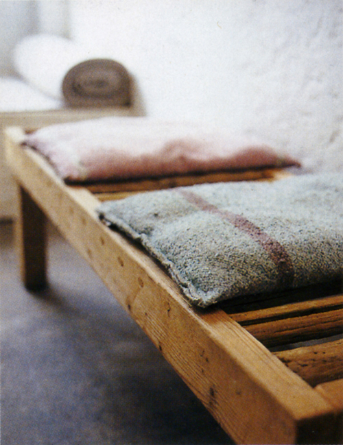 Bench pillows, Italian Elle mgazine, Summer 2004