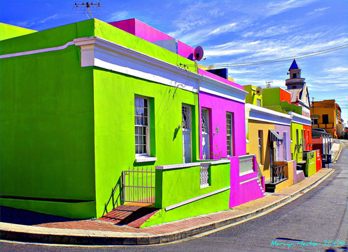 Painted houses in Cape Town's Bo Kaap, from Mooi Kiekies on Flickr