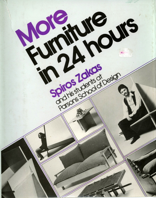 More Furniture in 24 hours by Spiros Zakas, 1979, cover