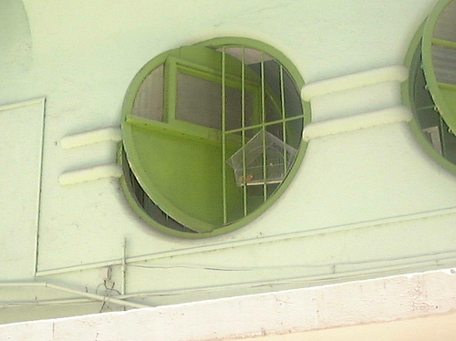 Round window with birdcage, Cuba, by |\ |) |=
