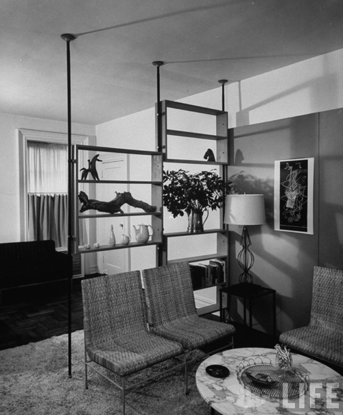 Time Life pole shelving, 1953 by Polecats