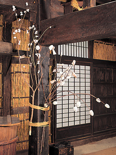 Interior of a peasant house in Nagano