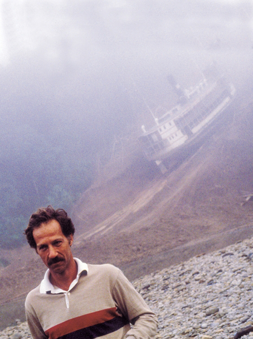 Werner Herzog during shooting of Fitzcarraldo