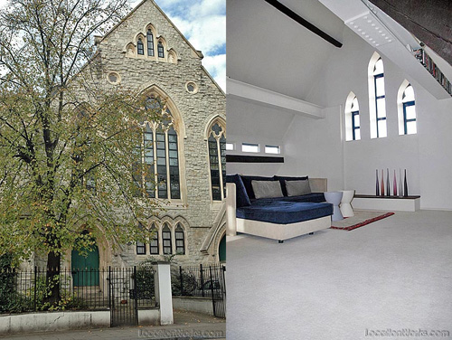 converted church in london, via locationworks