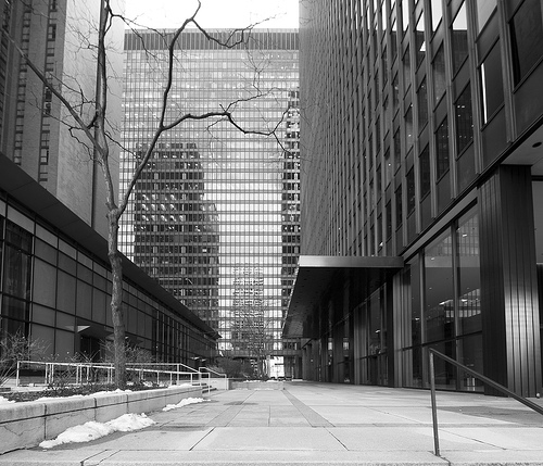 One Illinois Center, Mies vander Rohe, photographed by Lee Bey