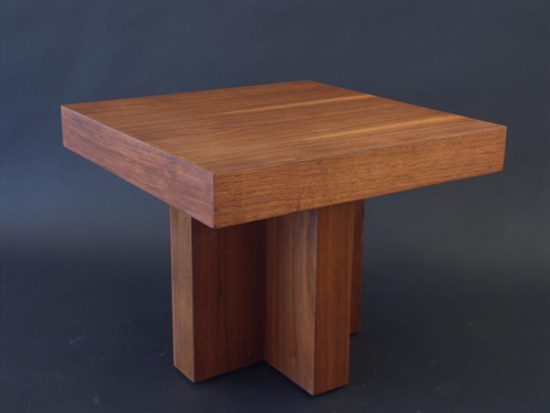 walnut occasional table by milo baughman, from lost city arts
