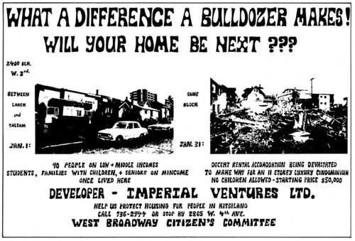 Will your home be next? Poster by Don Gutstein, poster, Vancouver, 1975