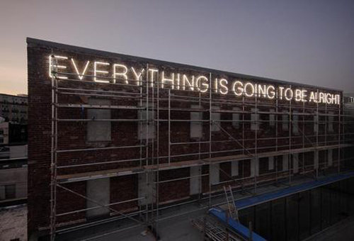 Everything Is Going to Be Alright by Martin Creed, installed in Vancouver