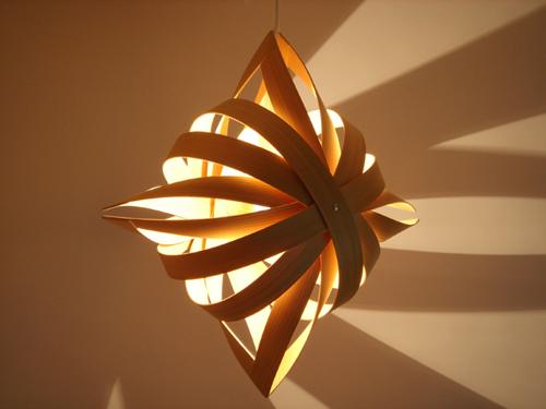 Toshiyuki Tani Shuriken (ninjastar) lamp via Kozai Designs