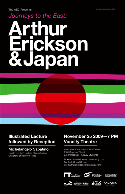 Journeys to the East: Arthur Erickson & Japan, Vancouver lecture co-presented by Coast Modern