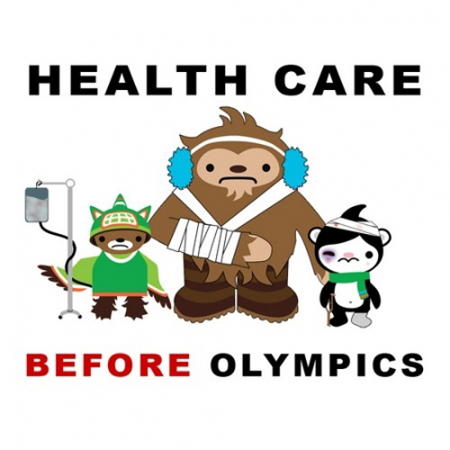Corey Rollins Olympic mascots - Healthcare before Olympics