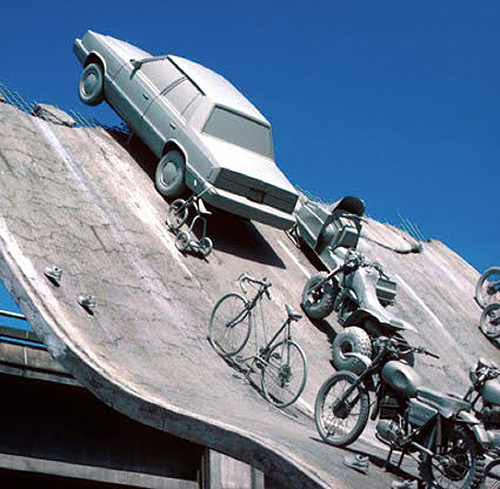 Highway 86, sculpture as part of Expo 86, by James Wines/SITE