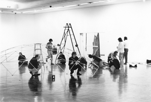 Installing the Dome Show, 1970, Vancouver Art Gallery