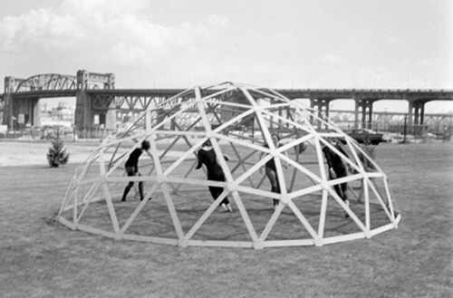 dancer in geodesic dome