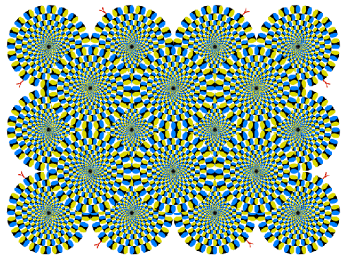 a study on the brains reaction to geometric shapes and optical illusions A 2009 magnetoencephalography study found that  it is passed on to the rest of the brain for detailed processing  optical illusions other.