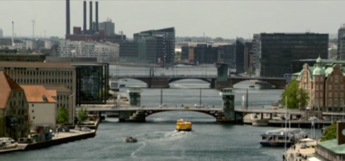 Borgen - view of Copenhagen over bridges