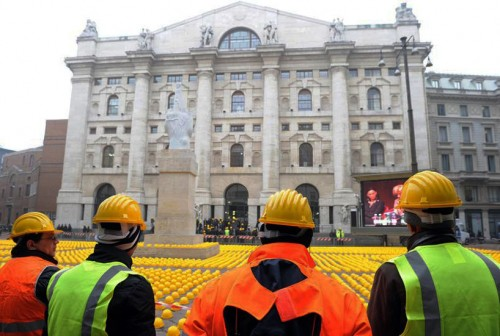 Day of Anger at Milan Stock Exchange