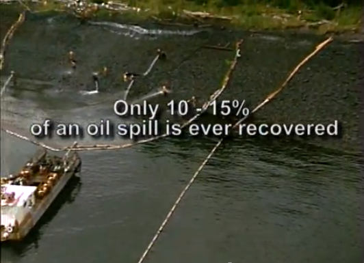 Oil spills - only small percent of oil is ever recovered