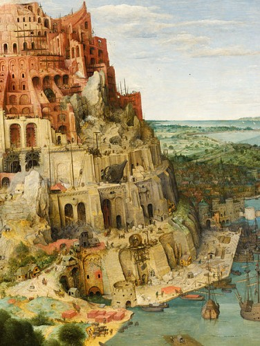 Pieter Bruegel the Elder, Tower of Babel, 1563, detail