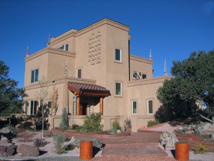 Aerblock - adobe-style mansion