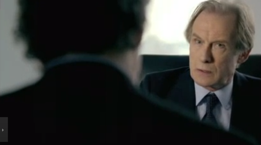 Bill Nighy, in The Banker
