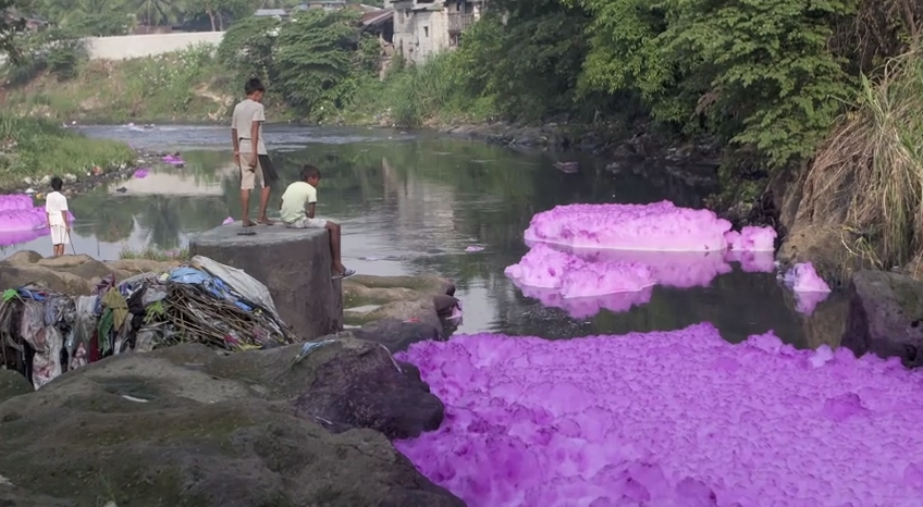 textile pollution Indonesia