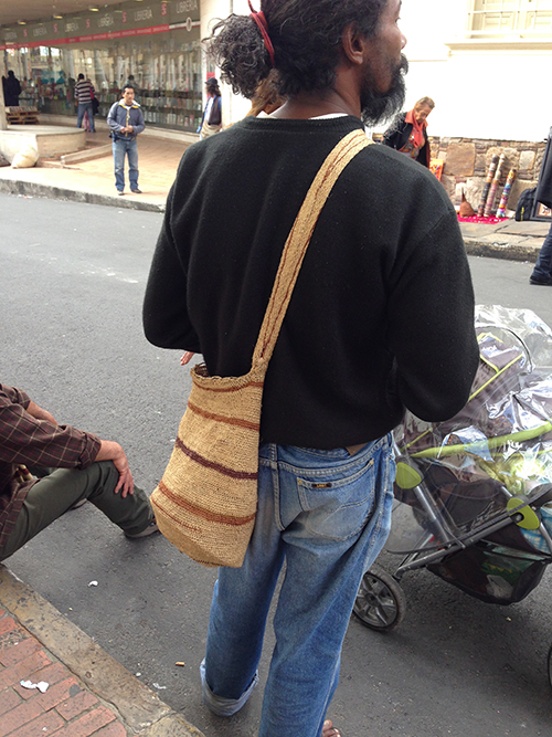 Mochila type bag, but of jute