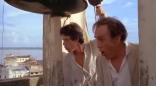 Fitcarraldo - Mich Jagger and Jason Robards inIquitos